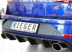 Rieger tuning vložka zadního nárazníku pro Seat Leon Cupra (5F) 5-dvéř. ST, facelift, r.v. od 01/17-
