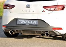 Rieger tuning vložka zadního nárazníku pro Seat Leon FR (5F) 3-dvéř. (SC)/5-dvéř. před faceliftem, r.v. od 01/13-12/16