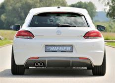Rieger tuning vložka zadního nárazníku pro Volkswagen Scirocco III (13)/ Scirocco R (13) 2-dvéř. r.v. od 08/08-
