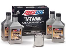 Sada pro výměnu oleje pro motocykly AMSOIL V-Twin Oil Change Kit