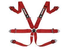 Sandtler Sponsor šestibodový bezpečnostní pás s homologací FIA červený