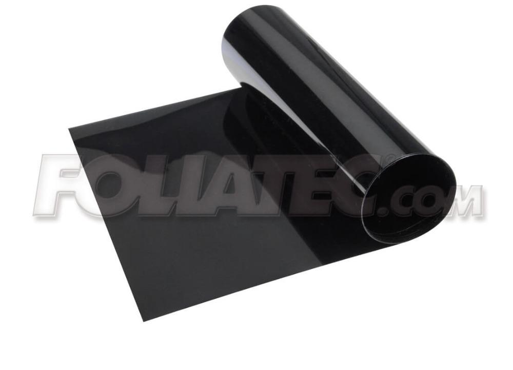 Stínící pruh na přední okno Foliatec 15x152cm černý - transparentní