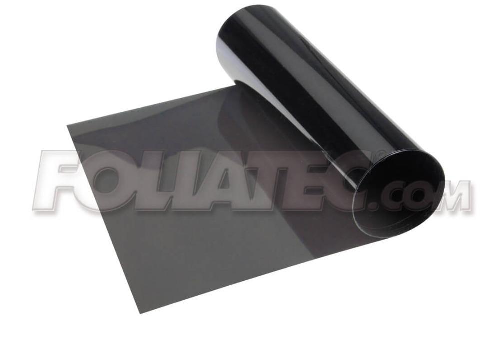 Stínící pruh na přední okno Foliatec 15x152cm šedý - transparentní