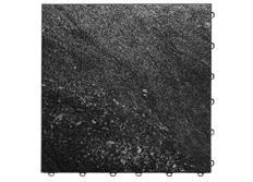 Swisstrax dlaždice modulární podlahy typu Vinyltrax, 40 x 40 cm, Černý mramor (Black Marble)