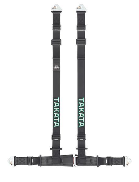 TAKATA 4-bodový sportovní pás Drift II černý s uchycením na sponu