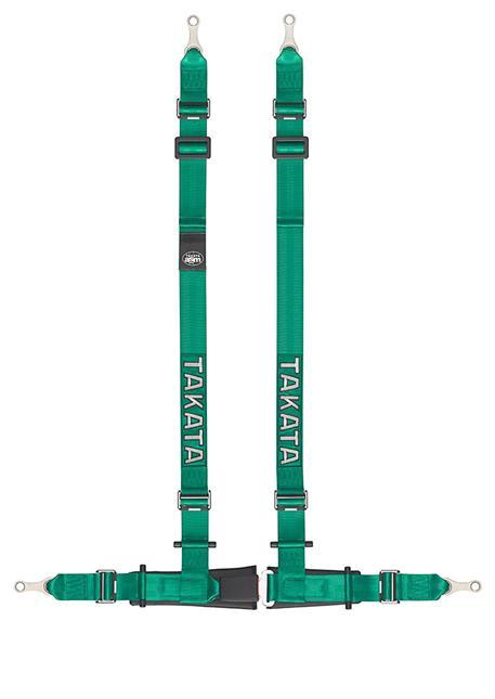 TAKATA 4-bodový sportovní pás Drift II zelený s uchycením na oko
