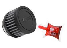 Univerzální vzduchový filtr K&N, tvar válec, průměr příruby 50mm, průměr filtru 76mm, délka 51 mm