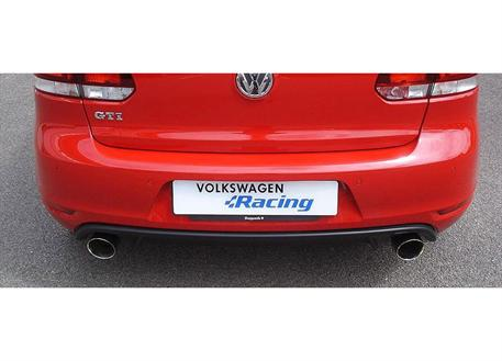 Cat-back výfukový systém Volkswagen Racing s koncovkou na obou stranách pro VW Golf 6 R