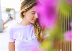 Vossen dámské triko V-Daisy lila růžová velikost M