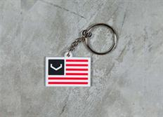 Vossen přívěsek na klíče 'V Flag' bílý