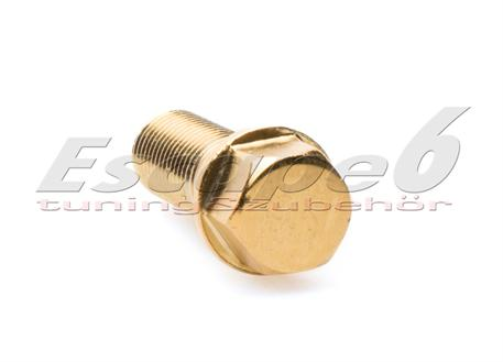 Kolový šroub M14x1,5x28 zlatý