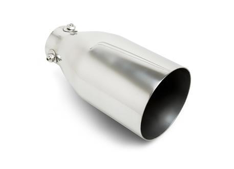 Koncovka výfuku kulatá 114 mm bez pertlu, leštěná, šroubovatelná