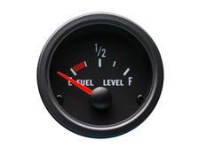 Autogauge palubní přístroj - hladina paliva s černým podkladem