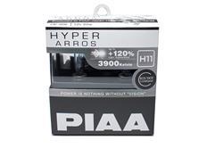 Autožárovky PIAA Hyper Arros 3900K H11 - o 120 procent vyšší svítivost, zvýšený jas