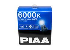 Autožárovky PIAA Stratos Blue 6000K H3 - studené bílé světlo s xenonovým efektem