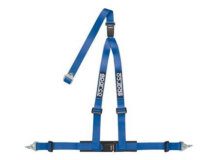 Tříbodový bezpečnostní pás Sparco s homologací ECE, odpojitelný modrý