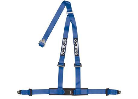 Ttříbodový bezpečnostní pás Sparco s homologací ECE modrý