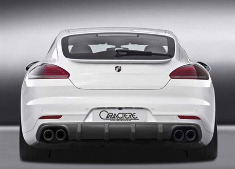 Caractere Exclusive spoiler pod originální zadní nárazník pro Porsche Panamera model 2014