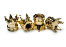 Čepičky ventilků zlaté korunky, 4ks