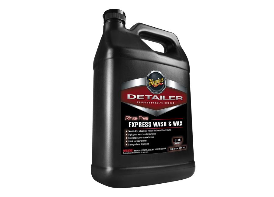 Meguiar's Rinse Free Express Wash & Wax, 3,78 l - profesionální přípravek pro mytí bez vody, s voskem na bázi syntetických polymerů