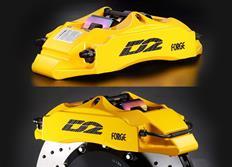 Přední brzdový kit D2 Racing pro Honda Jazz, průměr př. tl. 61mm, r.v. od 01 do 07, 4 pístkové brzdiče, velikost kotoučů: 304X28 mm