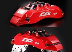 Přední brzdový kit D2 Racing pro Mitsubishi Eclipse D60, r.v. od 06 do 11, 6pístkové brzdiče, velikost kotoučů: 356X32 mm