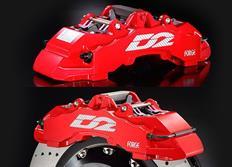 Zadní brzdový kit D2 Racing pro Audi A3 (8V) Sportback 2.0 TDI, př. tl. 50mm , r.v. od 2013, 8pístkové brzdiče, velikost kotoučů: plovoucí 421X36mm