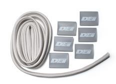 """DEi Design Engineering sada termo izolačního návleku """"Protect-A-Wire"""" délka 2,1 m + 6x koncovka s logem, stříbrná"""