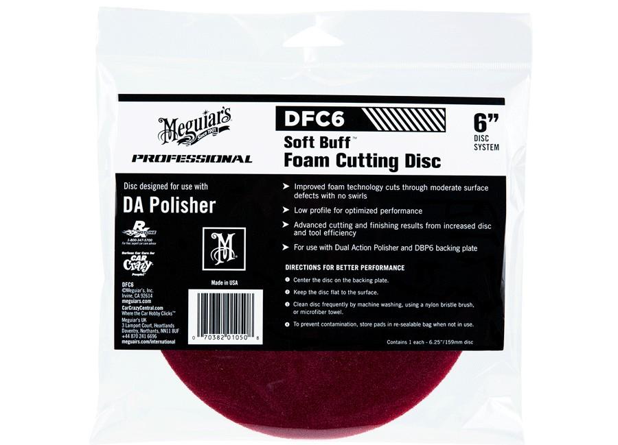 """Meguiar's Soft Buff Foam Cutting Disc 6"""" - korekční kotouč pro DA leštičku (tvrdý), 6palcový"""