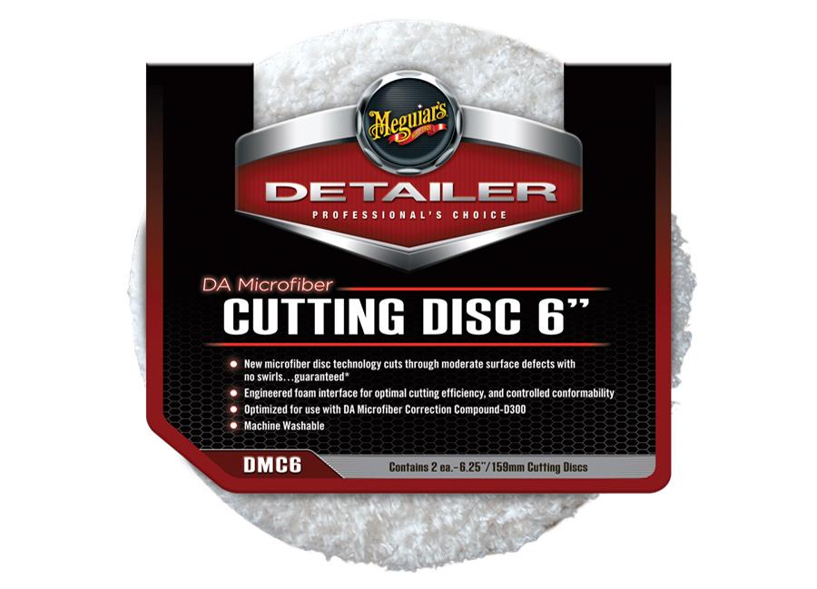 """Meguiar's DA Microfiber Cutting Disc 6"""" - lešticí mikrovláknový kotouč, 6palcový (2 kusy)"""