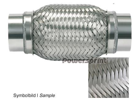 Powersprint flexibilní dvojitě pletená spojka s přírubou DD/B, vnější průměr 45 mm, celková délka 383 mm