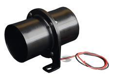 Elektrický ventilátor pro vložení do flexibilní hadice o průměru 76 mm