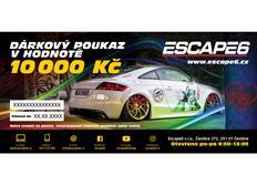 Elektronický dárkový poukaz Escape6 v hodnotě 10 000 Kč