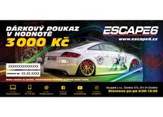 Elektronický dárkový poukaz Escape6 v hodnotě 3 000 Kč