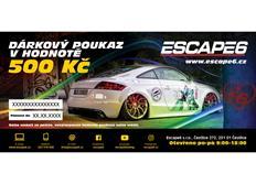 Elektronický dárkový poukaz Escape6 v hodnotě 500 Kč