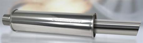 Powersprint koncový tlumič kulatý s koncovkou 76mm, průměr příruby 65 mm