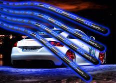Flexibilní LED neony modré - sada s dálkovým ovládáním