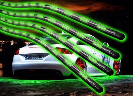Flexibilní LED neony zelené - sada s dálkovým ovládáním
