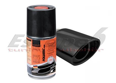 FOLIATEC dvousložková barva na koncovky výfuku ve spreji černá lesklá