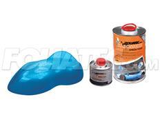 FOLIATEC barva pro lakovací systém 900ml + 100ml - modrá metalická matná Frozen