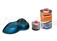 FOLIATEC barva pro lakovací systém 900ml + 100ml - modrá metalická matná Laguna
