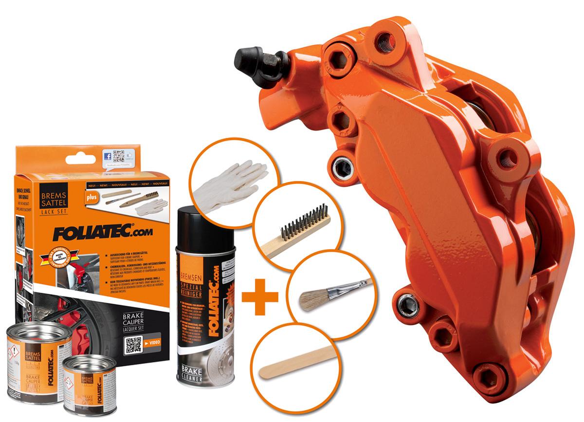 FOLIATEC dvousložková barva na brzdy oranžová (Flame orange)