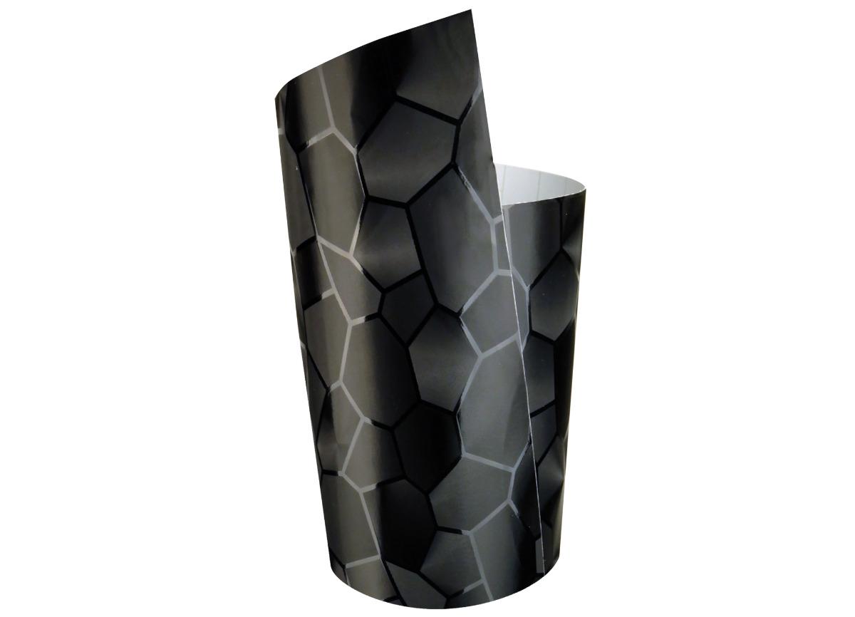 COCKPIT Designfolie Hexagon, blackFOLIATEC interiérová fólie Hexagon, rozměr: 50 x 50 cm