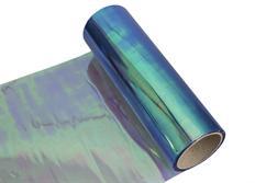 Transparentní fólie na světla chameleon modrá