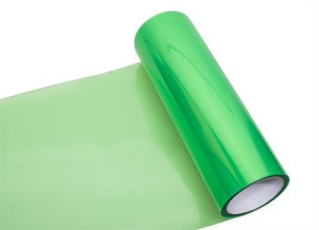 Transparentní fólie zelená