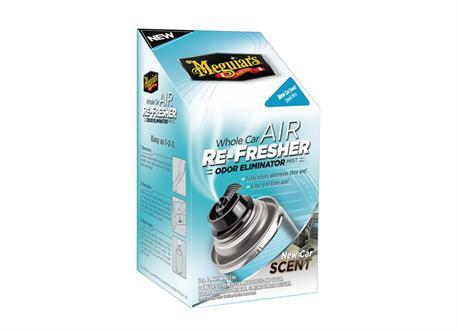 Meguiar's Air Re-Fresher Odor Eliminator - New Car Scent - desinfekce klimatizace + pohlcovač pachů + osvěžovač vzduchu, vůně nového auta, 71 g