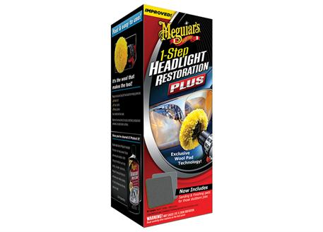Meguiar's 1-Step Headlight Restoration Plus - sada na oživení světlometů