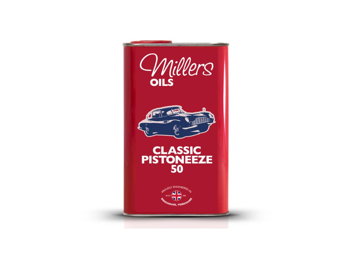 Jednorozsahový motorový olej Millers Oils - Classic Pistoneeze 50 1l