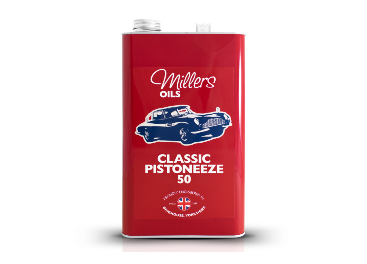 Jednorozsahový motorový olej Millers Oils - Classic Pistoneeze 50 5l