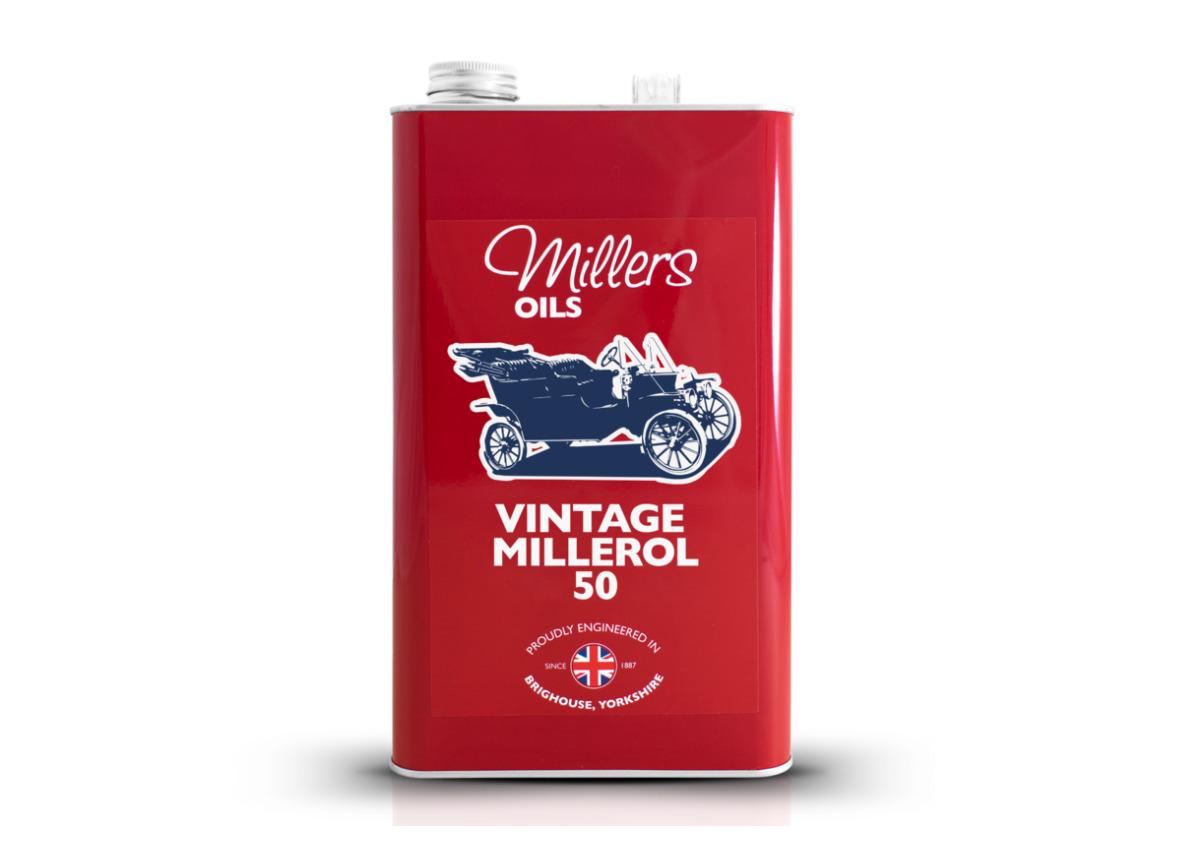 Jednorozsahový olej Millers Oils - Vintage Millerol 50 5l - pro motory a převodovky